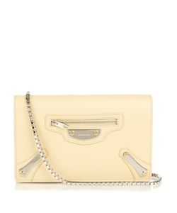 Balenciaga | Metal Plate Leather Shoulder Bag