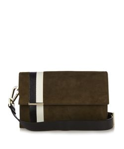 TOMASINI | Ayrton Striped Suede Shoulder Bag