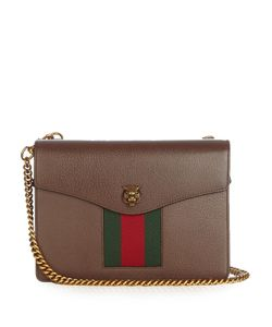 Gucci | Animalier Grained-Leather Shoulder Bag