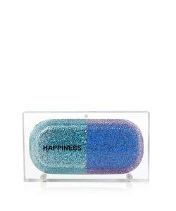 Sarah's Bag | Happiness Pill Glitter Perspex Clutch