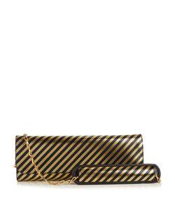 Balenciaga | Pochette M Striped Leather Clutch