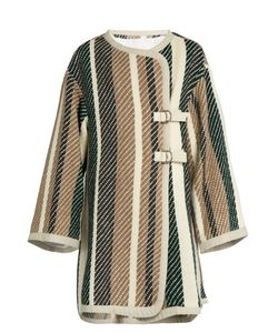 See By Chloe | Contrast-Striped Oversized Woven Coat