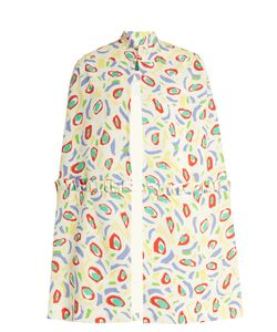 Duro Olowu | Abstract Bird-Print Crepe Cape