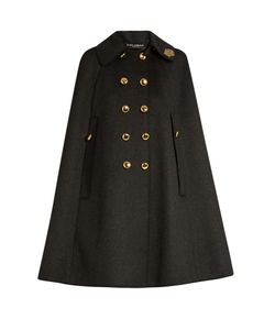 Dolce & Gabbana | Embellished-Collar Wool Cape