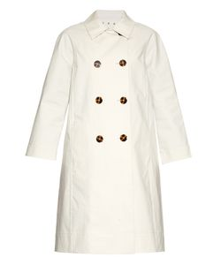 TRADEMARK | Double-Breasted Cotton Trench Coat