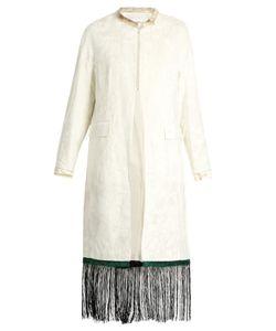 Toga | Fringe-Trimmed Velvet Coat