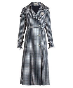 Preen By Thornton Bregazzi | Jette Gingham-Print Twill Trench Coat
