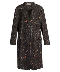 Preen Line | Kiki Print Stretch-Cotton Cord Coat