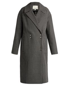 Tibi | Hounds-Tooth Wool-Blend Coat