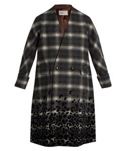 Kolor | Checked Wool-Blend Coat