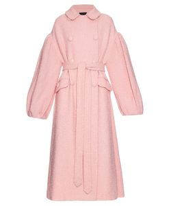 Simone Rocha | Oversized Sparkle Wool-Blend Coat