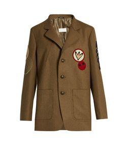 Maison Margiela | Motif-Appliqué Felted-Wool Jacket