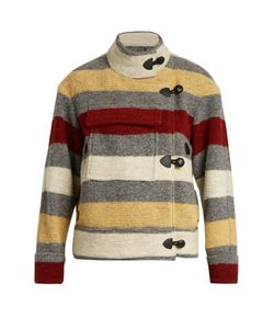 Isabel Marant Étoile | Fred Blanket-Striped Patch-Pocket Jacket
