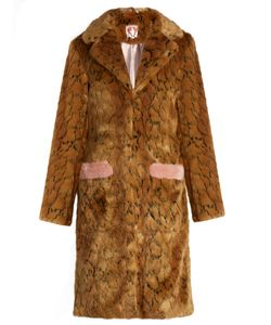 SHRIMPS   Claudeprint Faux-Fur Coat