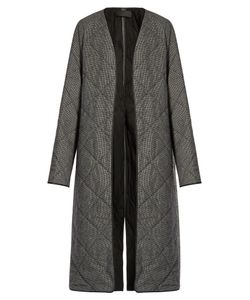 Haider Ackermann | Ladouche Hounds-Tooth Quilted-Wool Coat