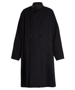 YOHJI YAMAMOTO REGULATION | Double-Breasted Oversized Wool Coat