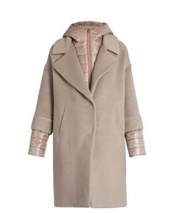 Herno | Soft Brush Showerproof Wool-Blend Coat