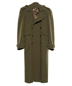 VETEMENTS | Exaggerated-Shoulder Twill Coat