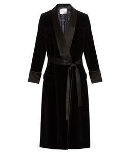 RACIL | Andromeda Satin-Lapel Velvet Coat
