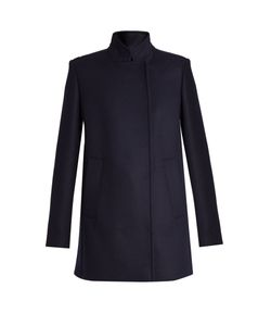 Proenza Schouler | Stand-Collar Double-Breasted Coat