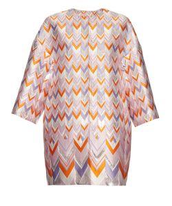 Giambattista Valli | Chevron Jacquard Cocoon Coat