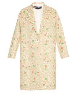 Rochas | Notch-Lapel Single-Breasted Brocade Coat