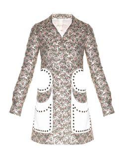 Giambattista Valli | Stud-Embellished Flower Bud-Jacquard Coat