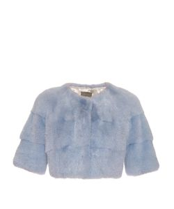 LILLY E VIOLETTA | Sarah Mink-Fur Cropped Jacket