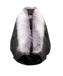 LILLY E VIOLETTA | Maegan Fur-Trimmed Cashmere Cape