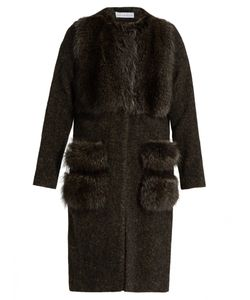 INÈS & MARÉCHAL | Alcyon Fur-Panel Wool-Blend Coat