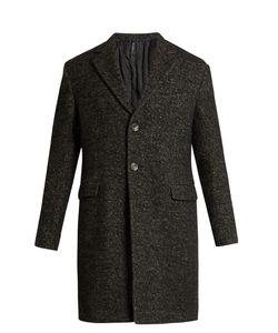 HELBERS | Single-Breasted Bouclé Overcoat