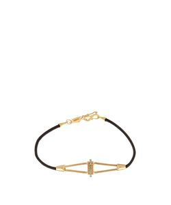 MONIQUE PÉAN | Diamond Leather Bracelet