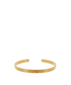 Aurelie Bidermann | Heart-Engraved Yellowplated Cuff