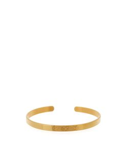 Aurelie Bidermann | Clover-Engraved Yellowplated Cuff