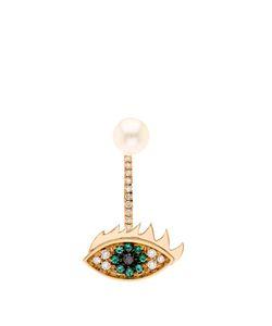 Delfina Delettrez | Diamond Emerald Pearl Earring