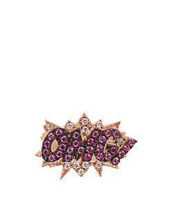 Diane Kordas | Diamond Sapphire Roseomg Earring