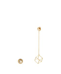 Noor Fares | Pyramid And Cube Yellowearrings