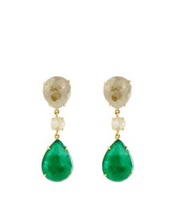 NSR NINA RUNSDORF | Diamond Emerald Yellowearrings