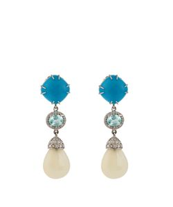 NSR NINA RUNSDORF | Diamond Turquoise Opal Whiteearrings