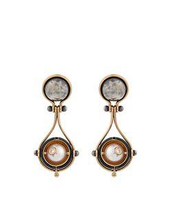 ELIE TOP | Diamond Pearl Pluton Earrings