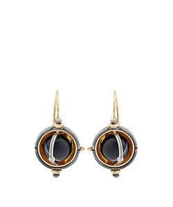 ELIE TOP | Diamond Onyx Sphere Earrings