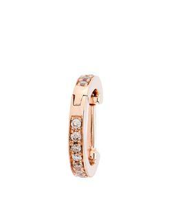 ELISE DRAY   Diamond Pinkmini Hoop Earring