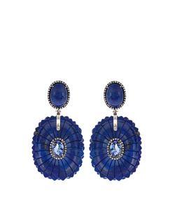 SILVIA FURMANOVICH | Diamond Tanzanite Lapis Earrings