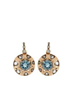 SELIM MOUZANNAR | Diamond Aquamarine Mille Et Une Nuits Earrings