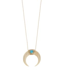 JACQUIE AICHE | Diamond Bone-Horn Turquoise Necklace