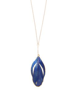 Aurelie Bidermann | Plumes Lacquered Yellownecklace