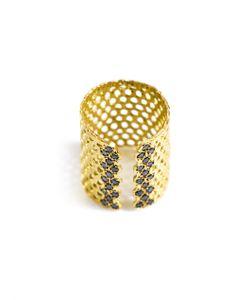 LARA MELCHIOR | Bague I Diamond Andplated Ring