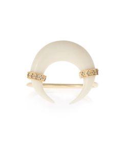 JACQUIE AICHE | Diamond Bone Horn Yellowring