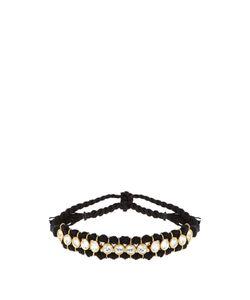 THEODORA WARRE | Topaz Plated And Cotton Bracelet