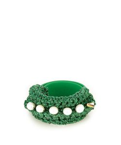 LUCY FOLK | Pearl Diver Slap Crochet And Pearl Bracelet